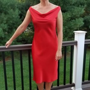 Calvin Klein Red Sleeveless Midi Dress